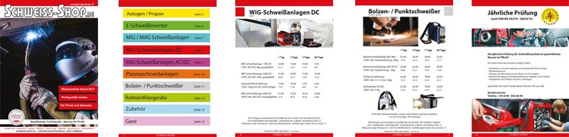 Schweiss-Shop Mietpreisliste PDF